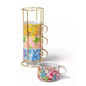 LP FOR TARGET coffee cup set & holder [like new!]